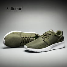 Viihahn Mens Running Shoes 2017 Breathable Mesh Lace Up Trainer Walking Shoes Outdoor Athletic Sport Sneakers for Men Size 40-46(China)