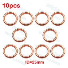10PCS Exhaust Muffler Pipe Gasket ID 25mm For 50cc 110cc 125cc 140cc 160cc Dirt Pit Bike ATV Quad Buggy Go Kart Scooter Moped