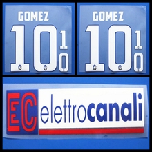 New Atalanta BC GOMEZ with advertising football number name font print,Hot stamping Soccer patches badges