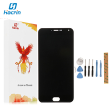 Hacrin For Meizu M2 Note LCD Display+Touch Screen Digitizer Glass Panel For Meizu M2 Note 1920x1080 FHD 5.5'' Cell Phone
