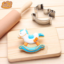 HEARTMOVE Kids Carousel Horse Shape Metal Cutter Biscuits Cookie DIY Fondant Cake Mold Cute Horse Decorating Baking Tool 8139