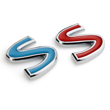 New Letter S Blue Red Car Auto 100% 3D Metal Emblem Trunk Sticker Badge for Infiniti Q50 Q50L G37 G25 QX70 FX35 FX37 Car-Styling