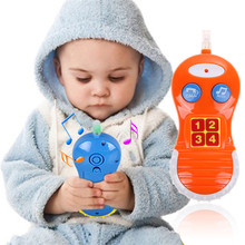 Baby Kids Learning Study Phone Toy Musical Sound Cell Phone Children Educational Toy Phones(China)
