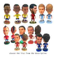 Soccerwe 2018 Season 6.5 cm Height Football Doll Star Dybala Pogba Neymar Jr Mbappe Messi Suarez Figures Collections Gift(China)
