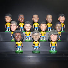 Soccerwe Brazil Soccer Star Lovely Action Figures Model Toys Fans Collection Football Dolls Gift Neymar Ronaldo Kaka Marcelo