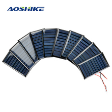 Aoshike 10Pcs Solar Panels Solar Battery Power Charging Solars DIY Electric Toy Materials Photovolta Charger 5V30mA 53x30MM(China)