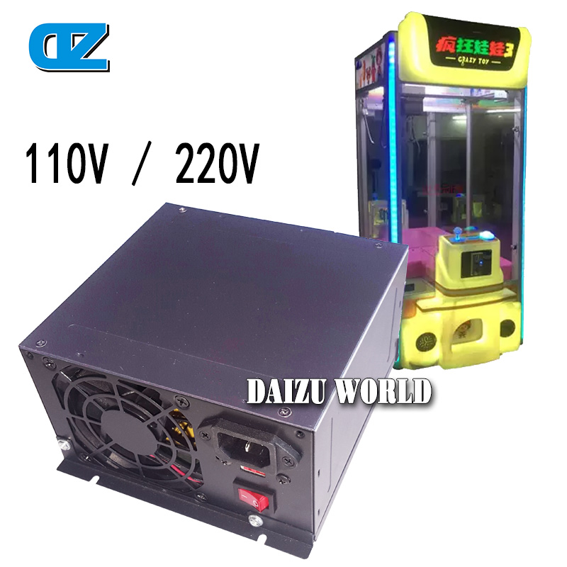 Toy Crane Machine 110V /220V Power Supply , Stable And Durable Power Supply ,Coin Operated Game Machine Equipments , Arcade Game<br>
