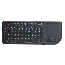 Mini Wireless Keyboard RF 2.4 Ghz English Air Mouse Keyboard Remote Control Touchpad with Touchpad 3.3V Built in Laser Pointer(China)