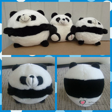 Free shipping Cute Panda Balls Plush toys Warm Stuffed animals Round Kung kids Great Companion fu birthday christmas gifts