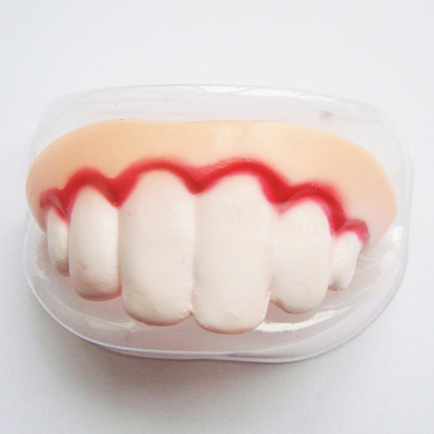 4PCS Halloween Cosplay Makeup Party Zombie Vampire Teeth Prank Freak luminous False Teeth Novelty funny Gags Practical Jokes 27