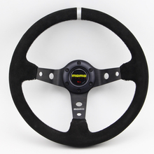 LARATH Universal Fitting 13inch suede Leather Deep Dish Car Racing Performance Tuning Sports Steering Wheel(China)