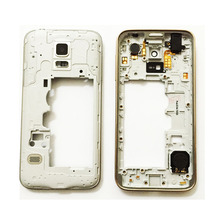 For Samsung Galaxy S5 mini Middle Plate Frame Bezel Housing Case Cover + Side Button+ Camera Lens Replacement Parts
