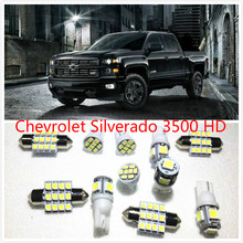 11 set White LED Lights Interior Package Map Dome For Chevrolet Silverado 3500 HD 3500 2500 2011-2016(China)