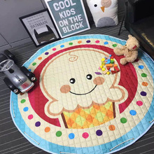 Kawaii Floor Children Playing Blanket Carpet Dolls Storage Bag Laundry Basket Kid's Toys Plaything Organizer Storaging Bags(China)