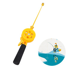 Portable Mini Ice Fishing Rod 33cm Plastic Children Fishing Pole With Reels Winter Fishing Rod(China)