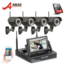 ANRAN Manually Varifocal 2.8mm-12mm 4CH Wireless NVR Surveillance Kit 720P HD Outdoor Security Wifi IP Camera CCTV System(China)