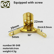KIMXIN Wooden box hardware fittings The cigar box hinges Mini hinge 22*29mm With screw Iron can be delivered fast with seven-let