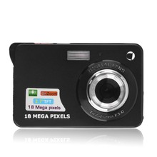 Mini Digital Camera 8x Digital Zoom Digital Photo Frame 2.7 inch 5MP COMS HD 18MP Resolution Video Recoding for gift black