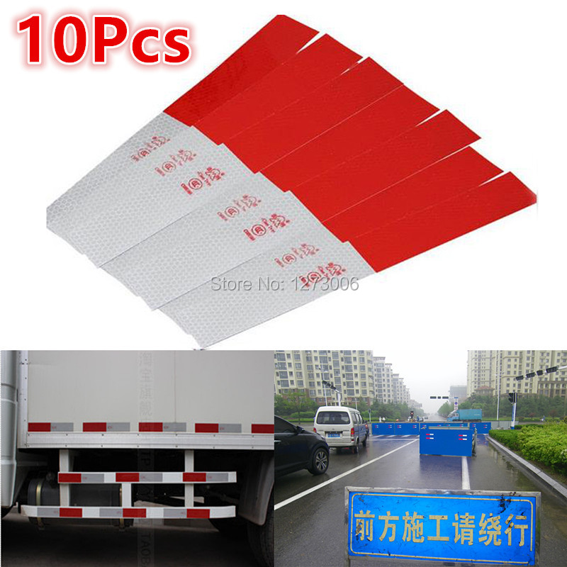10pcs Vinyl Film Strip Car Truck Warning Reflective Strip Tape Stickers Car Lighting Luminous Sticker Reflector Car Styling HOT(China (Mainland))