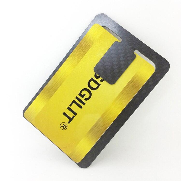 Genuine Carbon Fiber Glossy Flat Money Clip Credit Card Business Card Holder  (7)