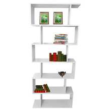 6 Level Tiers Book Shelf Unit Cube Storage Bookcase Display Modern Home Bookshelf Stand Rack