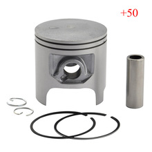 DT200 Piston & Piston Rings Kit High Performance Motorcycle Piston Set For DT 200 +50 Oversize Bore Size 66.5mm New(China)