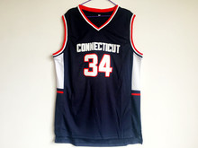 Ray Allen #34 Connecticut Uconn Retro Throwback Stitched Basketball Jersey Sewn Camisa Embroidery Logos(China)