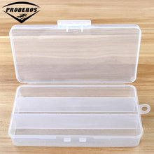 Simple Plastic Fishing Tackle Box 19*10*3.5cm Transparent Fishing Accessaries Box 3 Compartments PP Box