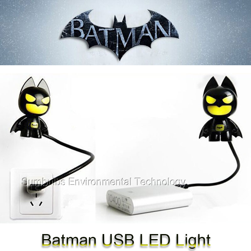 Super Hero Batman Cartoon USB Powered Lamp LED Lights for Power Bank PC Car Laptop 5V Mini Portable Night Lights<br>