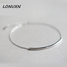 19+3cm 100% 925 Sterling Silver Anklet 2017 Hot 1 PC Hot Girls Handmade Women simple Korean fashion Beach Foot Jewelry Fashion