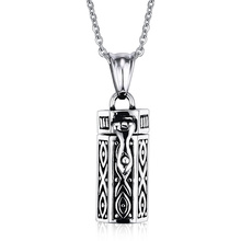 Buy Mprainbow Men Necklaces Tubular Openable Remembrance Jewelry Stainless Steel Pendant Unisex Jewellery Collier, 20 inch for $6.94 in AliExpress store