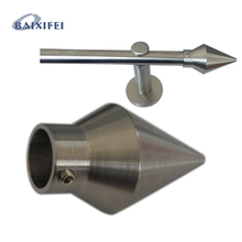 D16mm Curtain Rod Stainless Steel Decorative Head Bi-directional cone , Curtain Accessories Finials for Window Decoration(China)