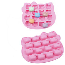 Hello Kitty Silicone Cake cookie Ice Mold Silicon Mould Cute Kids DIY cake decoration Tools Kitchen Accessories GYH