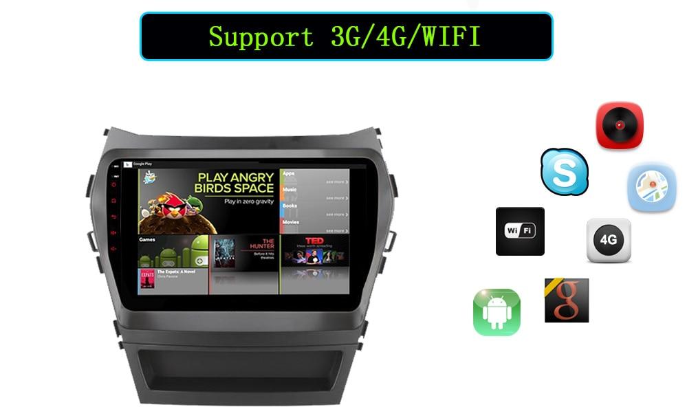 C500 + 2 4 SIM LTE Android 6.0 dvd- GPS dvr TPMS OBD2 Bluetooth Wi-Fi Hyundai IX45 2015-2017