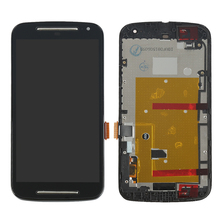 For Motorola MOTO G2 XT1063 XT1068 XT1069 Lcd display touch screen digitizer Assembly Bezel frame + Tools , Black replacement