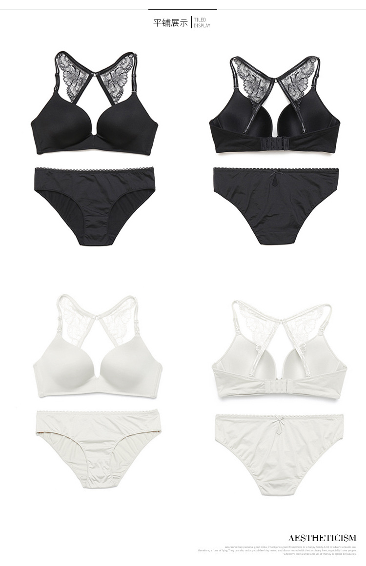 New Fashion Brand Seamless Lace Bra Set Women Underwear Sexy Push Up Bras and Lace Butterfly Strap Panty Set BS289 9