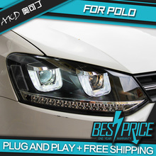 AKD Car Styling Head Lamp for VW POLO Headlights LED Headlight DRL Daytime Running Light Bi-Xenon Lens HID Accessories