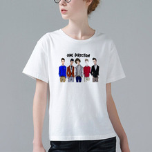 Unique Design 1D T-shirt Women's Short Sleeve One Direction T Shirts Fashion Tops Summer Cute Cool Female Tees W957