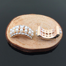 Crystal Pearl Alloy Button For Headband Accessory For DIY Hair Clip / Ring(China)