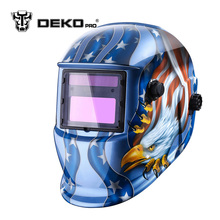 DEKOPRO Eagle Solar Auto Darkening MIG MMA Electric Welding Mask/Helmet/Welding Lens for Welding Machine or Plasma Cutter(China)