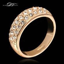 Cubic Zirconia Engagement Rings Wholesale Rose Gold/Silver Color Crystal Fashion CZ Stone Wedding Jewelry For Women DFR061M