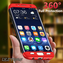 luxury 360 Degree full body protection case for samsung galaxy S6 S7 edge note 8 case plastic back cover for S8 plus phone case(China)