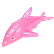 1x BLOW UP Dolphin Inflatable Beach Pool Rider Toy Kids Party Favor Funny Prop