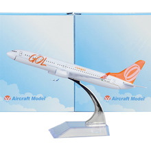 Brazil GOL Airlines Boeing 737 16cm decoration airplane models child Birthday gift plane models Free Shipping free Shipping