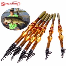 Sougayilang 1.8-3.6M Carbon Fiber Telescopic Fishing Rod Portable Spinning Fishing Rod Pole Travel Sea Boat Rock Fishing Rod
