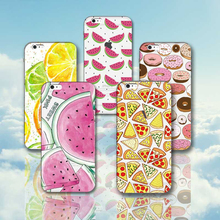 Silicon Case Cover for  iPhone 7  5S  SE 6 6S Plus Phone cases Soft TPU Fundas Fruit Transparent