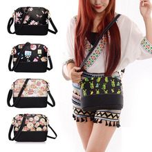 New Fashion Shell Bag Charming Zipper Ladies Shouder Bag PU Panelled Women Messenger Bags