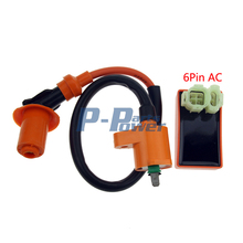 Scooter High Performance Ignition Coil & Performance AC CDI GY6 50cc150cc 139QMB 152QMI and 157QMJ engines AC Fired