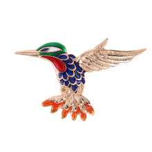 Cute Brooches Glaze Fly Bird Collar Clips Scarf Brooch Pins Alloy Crystal Colorful Flyer Enamel Brooch Accessories(China)