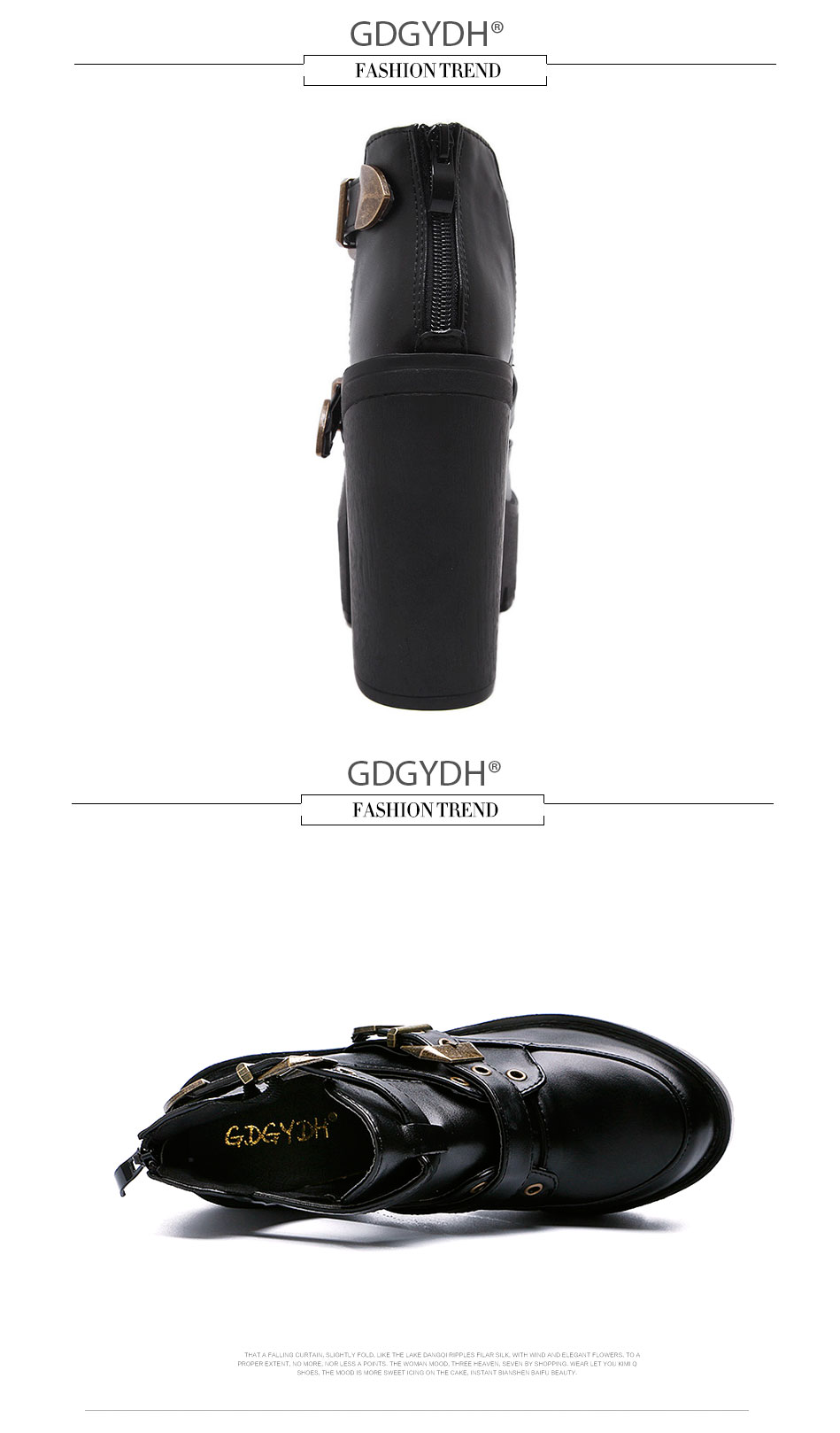960720cf0bb Gdgydh 2018 new spring autumn casual high-heeled shoes sexy ruslana  korshunova thick heels platform pumps Black White Size 42USD  22.93-28.03 pair